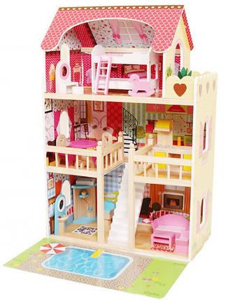 Кукольный домик игровой AVKO Вилла Верона + LED подсветка + 2 куклы, фото 2