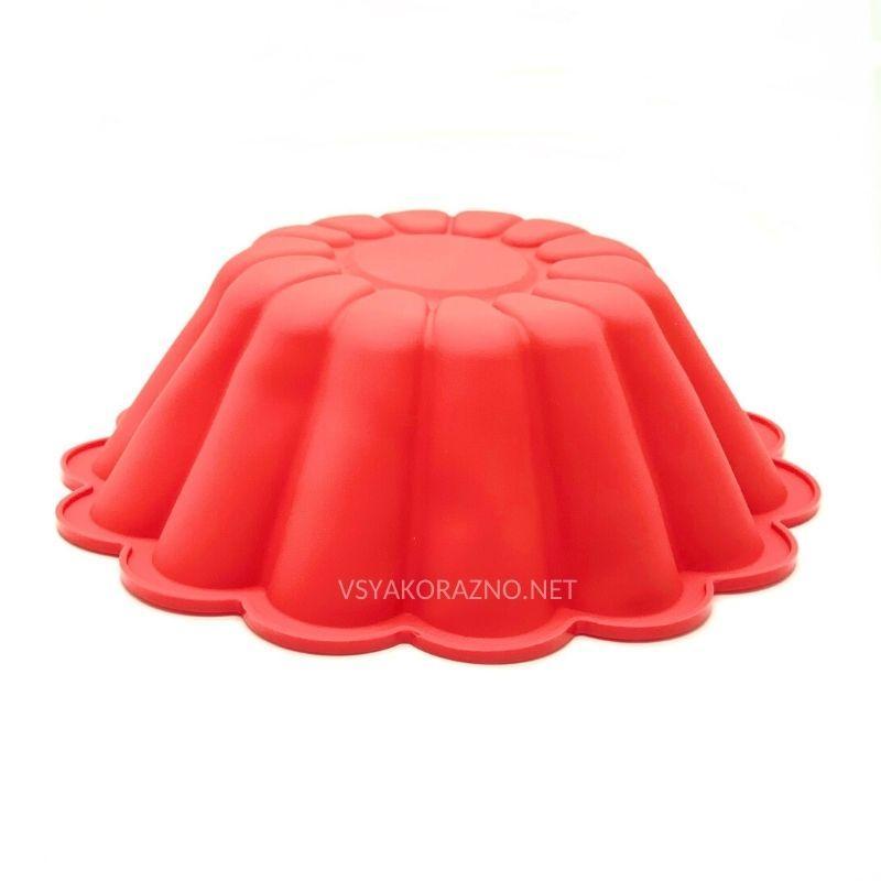 Силиконовая форма для выпечки (Кекс Волна большой) / Силіконова форма для випічки (красный)
