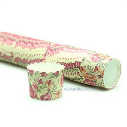 Бумажные формы для кексов и маффинов / Паперові форми для кексів і маффінів 50х50 мм (50 шт.) Красные розы