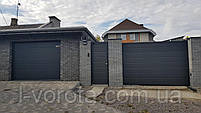 Гаражно-секционные ворота DoorHan ш3500, в2200 (цвет сатингрей), фото 2