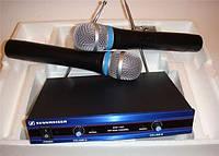 Радиосистема Sennheiser EW-100 с 2 облегченными микрофонами, радиомикрофоны для вокала/пения/караоке
