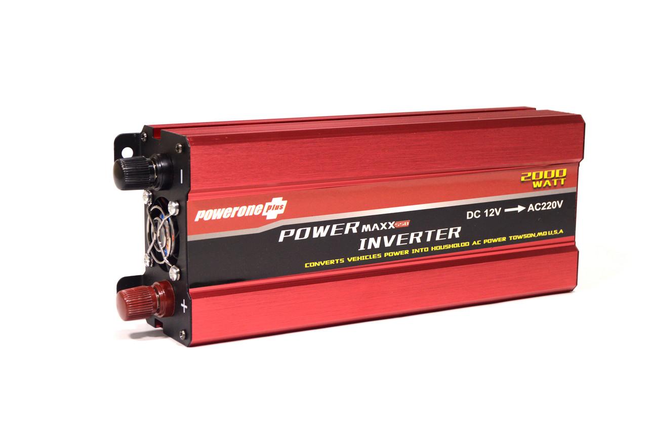Преобразователь тока powerone plus (AC/DC Инвертор 2000W 12 V с вольтметром)