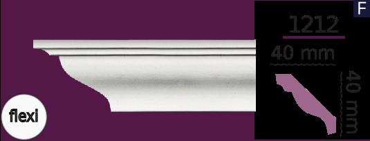 Карниз стельовий гладкий 1212 (2.40м) Flexi Home Decor ліпний декор з поліуретану
