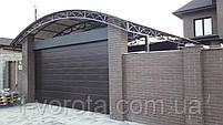 Гаражные секционные ворота DoorHan ш4500 * в2500 (цвет венге), фото 4