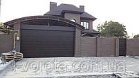 Гаражные секционные ворота DoorHan ш4500 * в2500 (цвет венге), фото 3