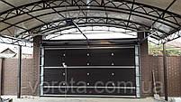 Гаражные секционные ворота DoorHan ш4500 * в2500 (цвет венге), фото 2