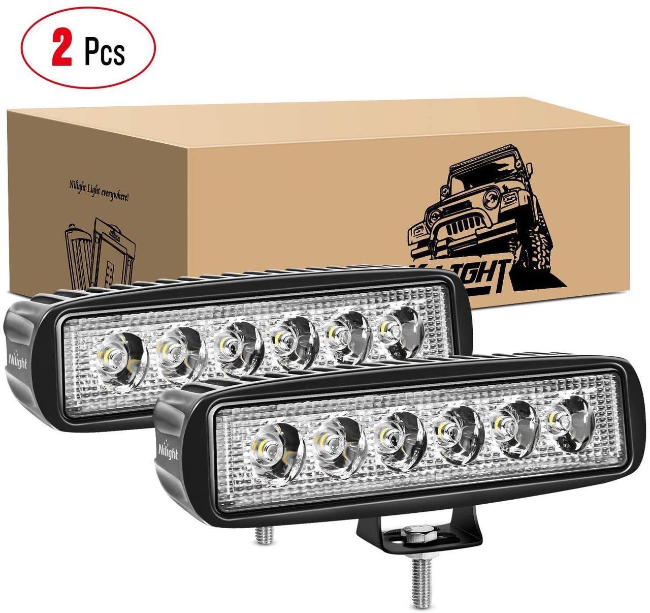 Светодиодные рабочие фары 2шт 18w Spot Driving Fog Light Off Road Lights фары дальнего света Led Light Bar