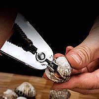 Открывалка для моллюсков GDAY из нержавеющей стали клещи кухонные, фото 2