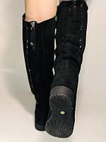 Натуральне хутро.Зимові чоботи-ботфорти на низькому каблуці. Натуральна шкіра. Люкс якість. Molka. Р. 36-40., фото 6