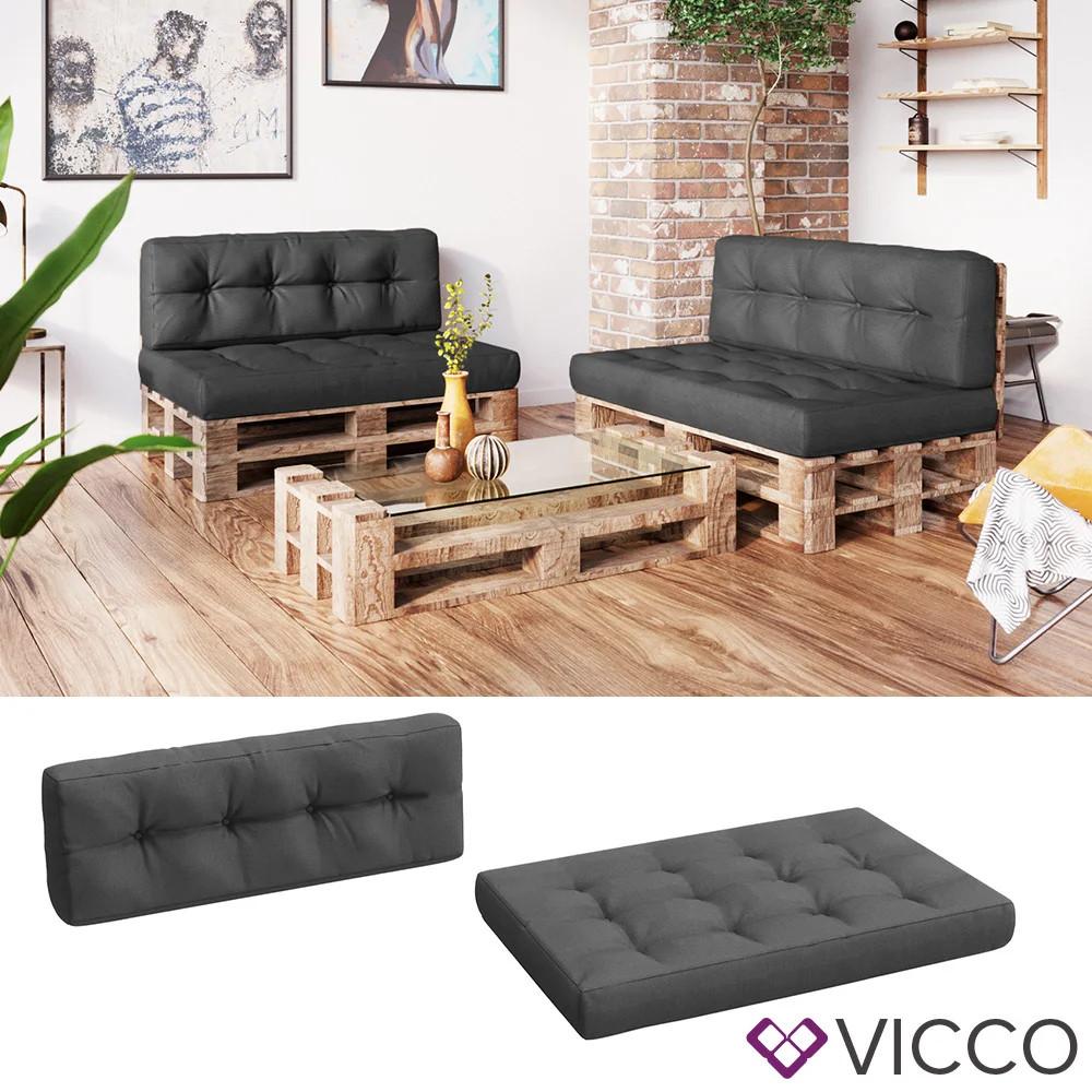 Подушки для мебели из паллет, Vicco 2шт сиденье и спинка