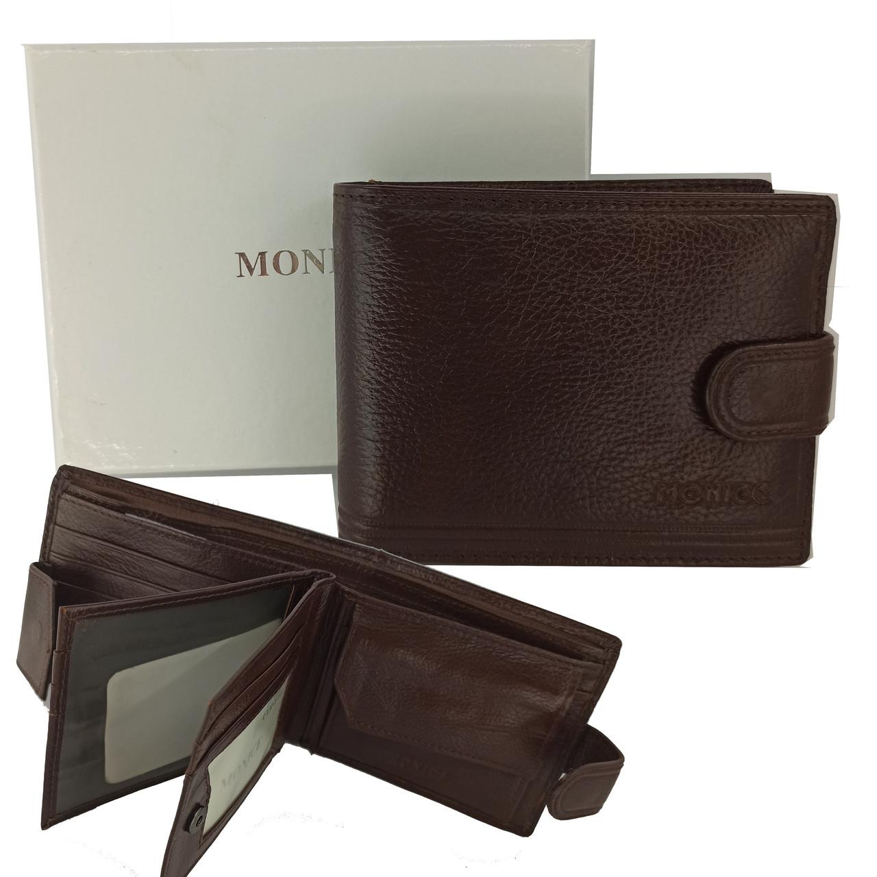 Кожаный мужской кошелек портмоне Monice PY-003A-60