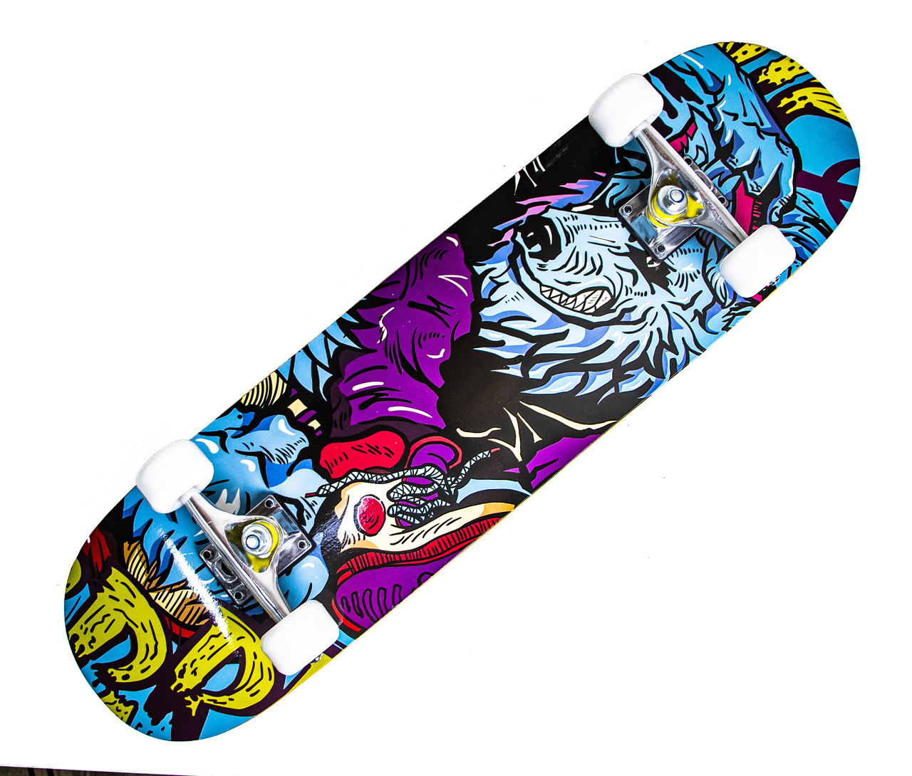 Скейтборд деревянный Scale Sports Blue Wolf