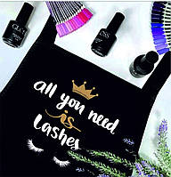 """Фартук с принтом """"All you need is lashes"""""""