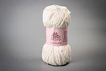 Пряжа хлопковая Vivchari Cottonel 400, Color No.2002 молочный