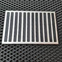 Подпятник металлический для автоковриков 25х13см (алюминий)