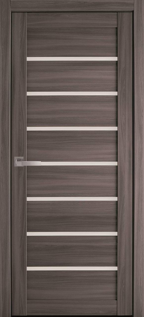 """Дверь межкомнатная """"Новый Стиль"""" модель Леона, дуб атлант (со стеклом)"""
