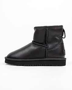 Детские зимние ботинки UGG Neumel Black / Угги Ноймел Черные