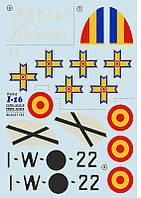 Поликарпов И-16. Набор №2 деколей для сборной модели самолета в масштабе 1/32. PRINT SCALE 32-016