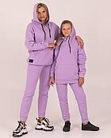 """Теплий спортивний костюм """"CHEVRON"""" бузковий 90% бавовна, фото 1"""