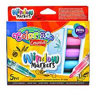 Маркери для скла 5 кольорів Colorino 39637PTR