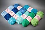 Пряжа хлопковая Vivchari Cottonel 400, Color No.2008 зеленая бирюза, фото 5