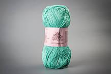 Пряжа хлопковая Vivchari Cottonel 400, Color No.2008 зеленая бирюза