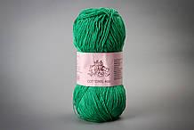 Пряжа хлопковая Vivchari Cottonel 400, Color No.2012 зеленое яблоко