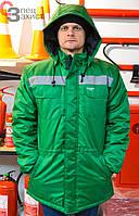 Куртка робоча утеплена Експерт зелена