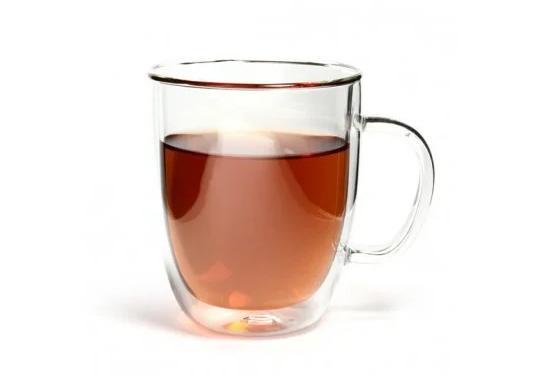 Чашка кружка с двойным стеклом Биг-Бен с двойными стенками прозрачная стекло  400мл