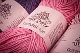 Пряжа хлопковая Vivchari Cottonel 400, Color No.2016 бордовый, фото 7