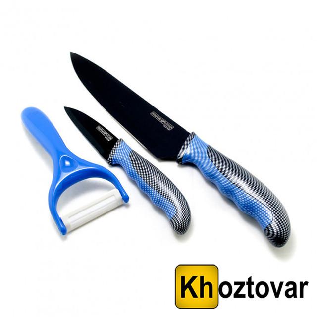 Набір ножів з овочечисткою Unique UN-1803