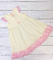 Сарафан-платье для девочки трикотаж молочное(92-98)р HappyToT Украина 1088, фото 1