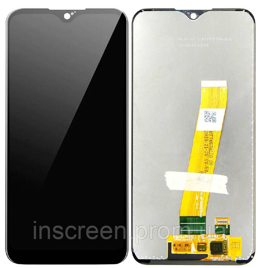 Дисплейний модуль для Samsung A01 Galaxy A015, M015F Galaxy M01 2020 з сенсором (GH81-18209A), із широким, фото 2