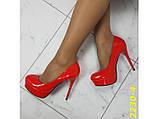 Туфли красные на шпильке с платформой К2230-4, фото 2