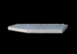 Столешница из нержавеющей стали для тумбы  1360 x 465 x 38мм (на 2 модуля)