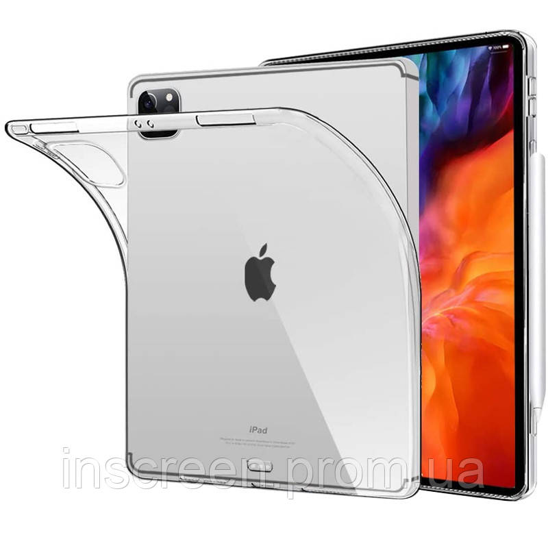 Чехол силиконовый Apple iPad Pro 2020 12.9 прозрачный