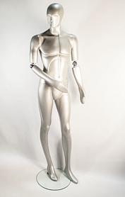 Манекен мужской K22-steel ball silver