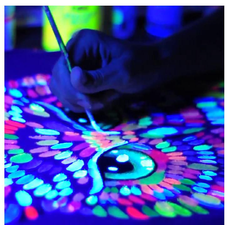 Флуоресцентная краска Acmelight  box 8 pcs. 160мл