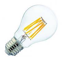 Светодиодная винтажная лампа 8W A60 4200K E27 Filament Лампа филамент А-60 8w 4000k FL-312