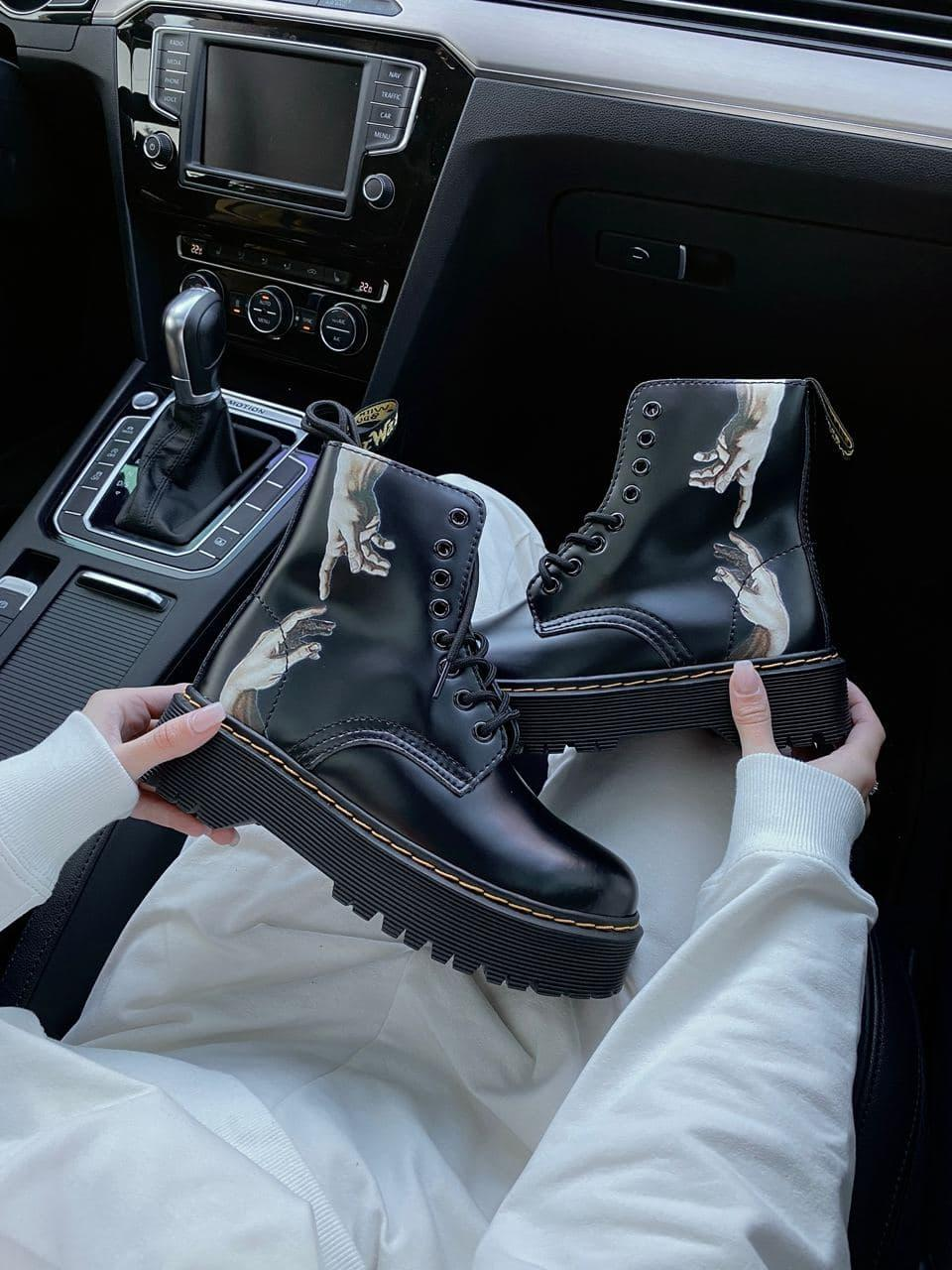 Демисезонные ботинки DR Martens / Доктор Мартинс / Руки Микеланджело