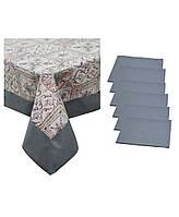 Набор скатерть Mosaic и салфетка uni grey