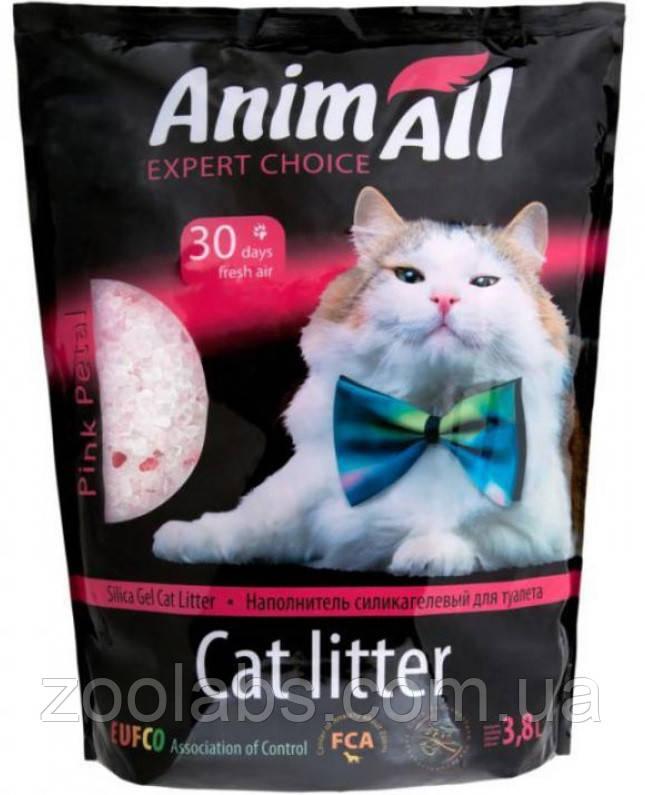 Наполнители для туалета Энимолл | AnimAll Розовый лепесток силикагелевый наполнитель 3,8 л