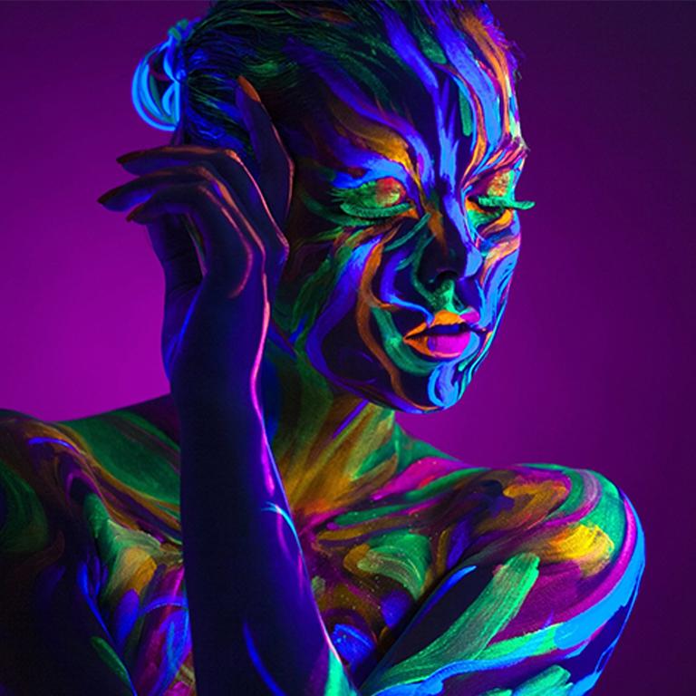 Светящаяся краска для тела Acmelight Аквагрим box 8 color 160мл