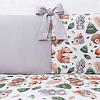 """Детская постель Asik """"Ёжики, зайчики, белочки и мишки в осеннем лесу"""" с бортиками на 3 стороны, №392, фото 4"""