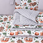 """Детская постель Asik """"Ёжики, зайчики, белочки и мишки в осеннем лесу"""" с бортиками на 3 стороны, №392, фото 5"""