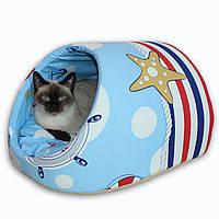 Домик для собак и кошек Sea Breeze 47x40x28см