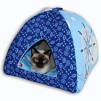 Домик Юрта для котов и собак Sea Breeze 45x45x36см