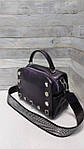 Женская сумка натуральная кожа фиолетовая  (105), фото 6