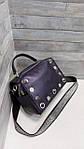 Женская сумка натуральная кожа фиолетовая  (105), фото 3