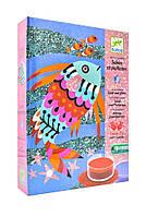 Художній комплект малювання кольоровим піском Djeco - Райдужні Рибки (DJ08661)
